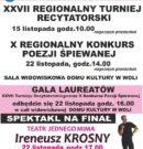 XXVII Regionalny Turniej Recytatorski, X Regionalny Konkurs Poezji Śpiewanej